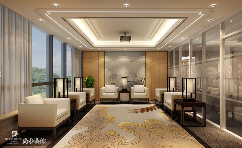 新富资本 | 大型资本管理集团的中式意蕴办公室装修设计图片