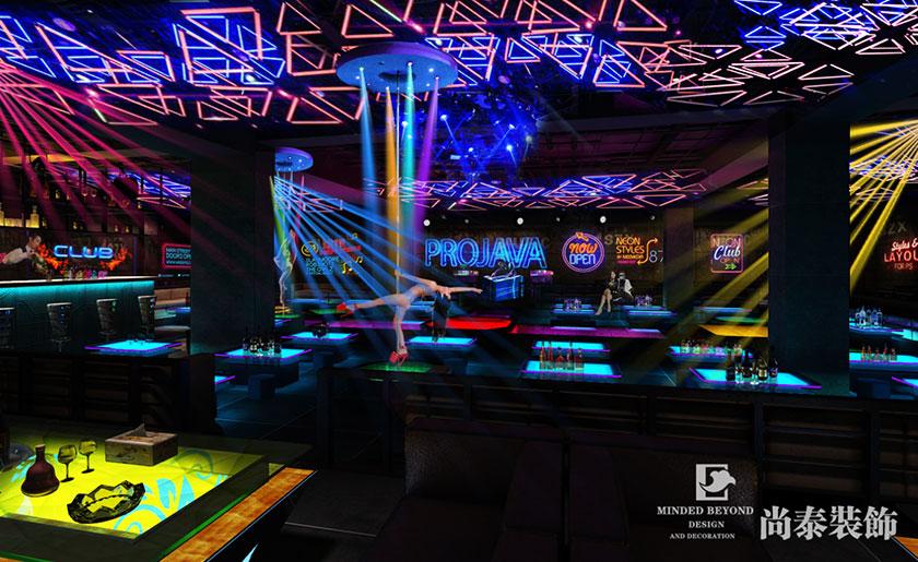 双子星酒吧   400㎡工业风酒吧装修效果图