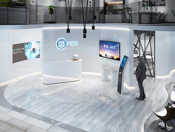 120平米现代简约广告展厅亚搏体育app官方ios设计 | 广告牛