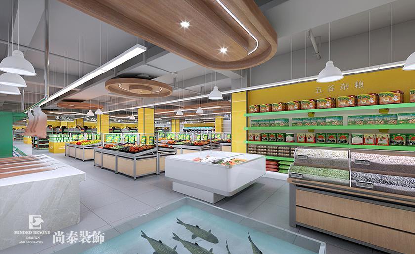 生鮮超市裝修效果圖鑒賞,讓生活多一點鮮味