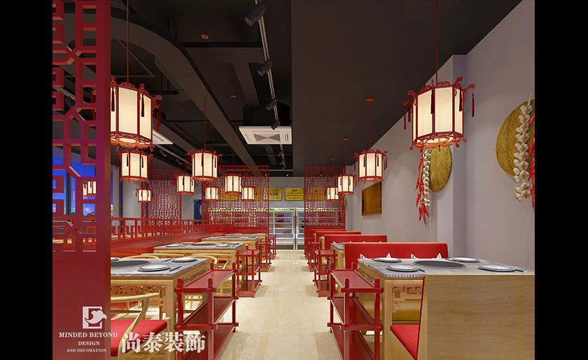 火锅店餐饮就餐区装修效果图