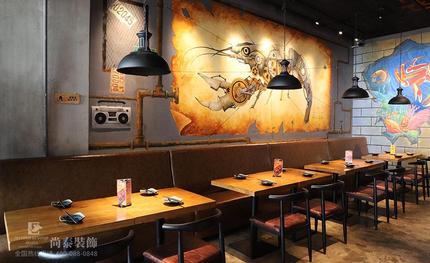 网红餐饮店装修效果图片