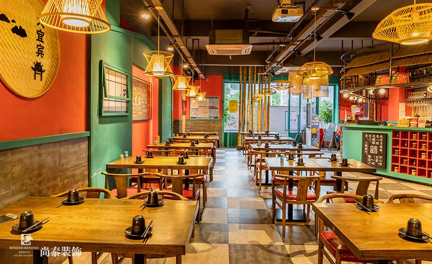 用竹子装修的餐厅设计
