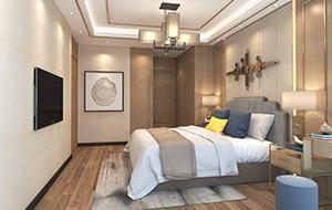 120平米新中式家装效果图   壹城中心