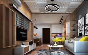 78平米小户型家装改造设计   东方新地