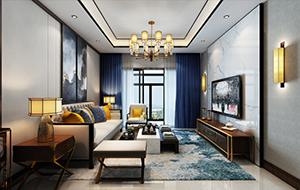 130平米中式婚房家装设计