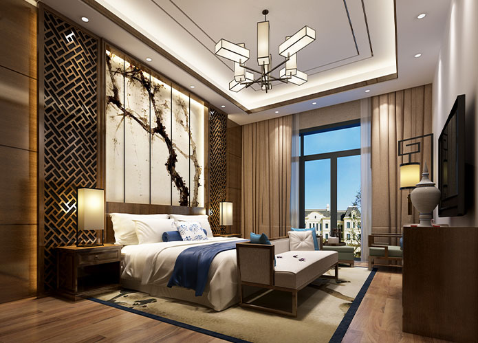 550平米新中式别墅家装设计效果图   紫鳞山花园