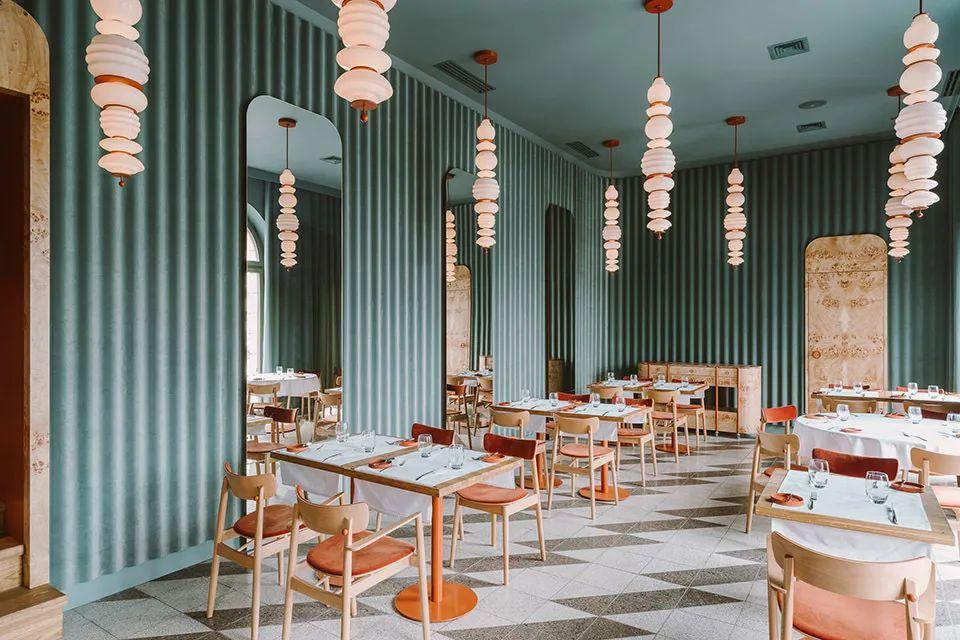 餐厅设计,用选材塑造高级感!