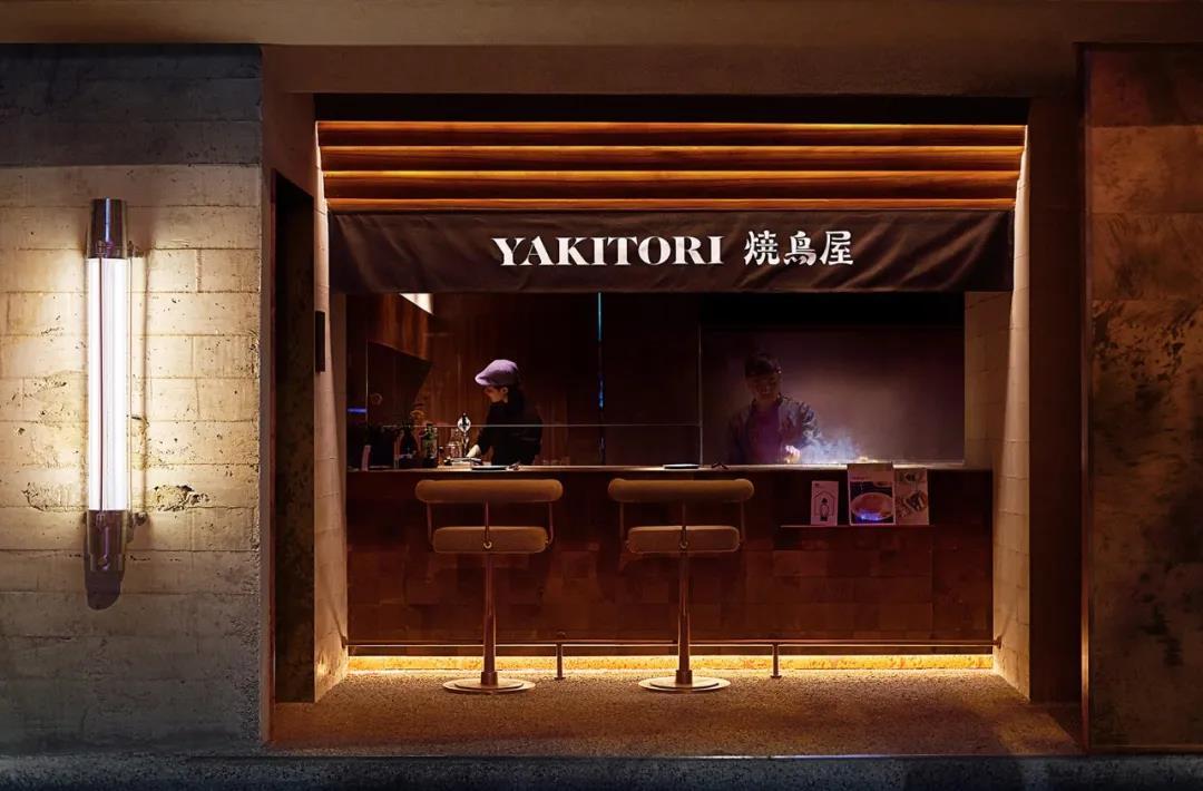 日式餐饮店亚搏体育app官方ios设计,明暗与线条对比