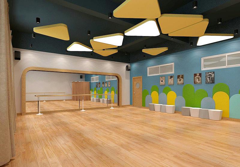 幼儿园舞蹈教室设计效果图